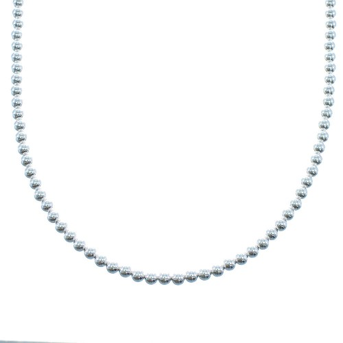 Genuine Sterling Silver Southwestern Bead Necklace AX100165