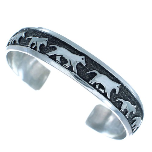Silver Horse Navajo Tommy And Rose Singer Cuff Bracelet AX100893