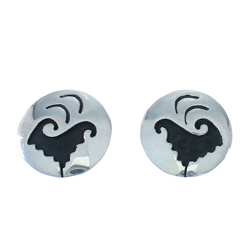 Navajo Indian Tommy And Rose Singer Sterling Silver Water Wave Post Earrings RX101020