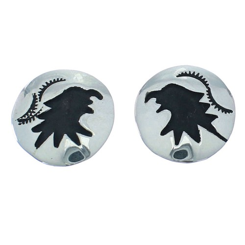 Tommy And Rose Singer Navajo Genuine Sterling Silver Eagle Post Earrings RX101088