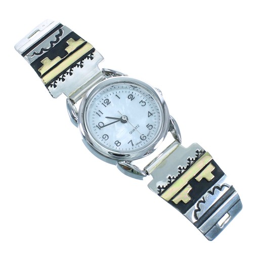 Sterling Silver 12 Karat Gold Filled Tommy And Rose Singer American Indian Watch RX101829
