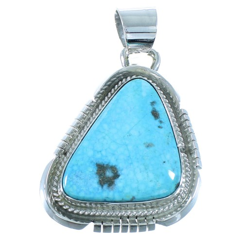 Birds Eye Turquoise American Indian Sterling Silver Pendant AX101983