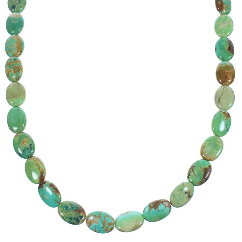 Turquoise Sterling Silver Southwestern Bead Necklace SX104873