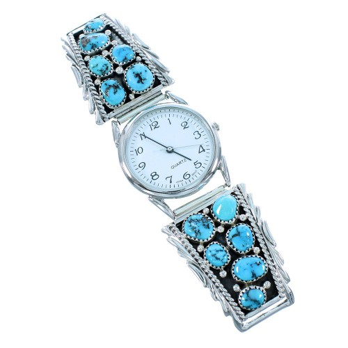 Native American Genuine Sterling Silver Turquoise Watch SX105464