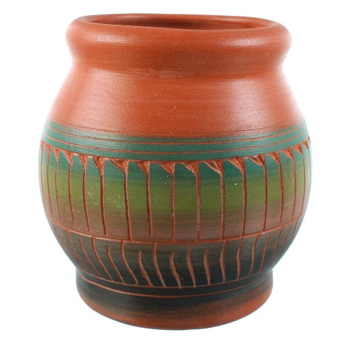 American Indian - Navajo Hand Crafted Pot RX106361