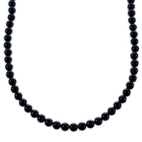 Onyx Genuine Sterling Silver Southwest Bead Necklace SX106658