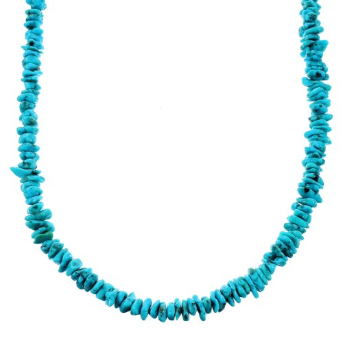 Turquoise Jewelry Sterling Silver Southwest Bead Necklace SX106705