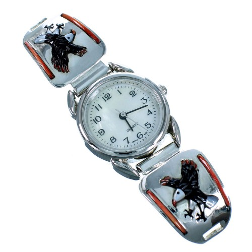 Multicolor Genuine Sterling Silver Eagle Watch AS53698