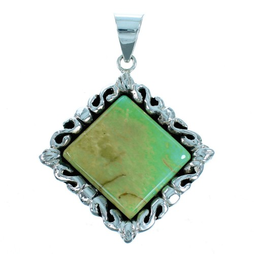 Sterling Silver Southwest Turquoise Pendant GS75179