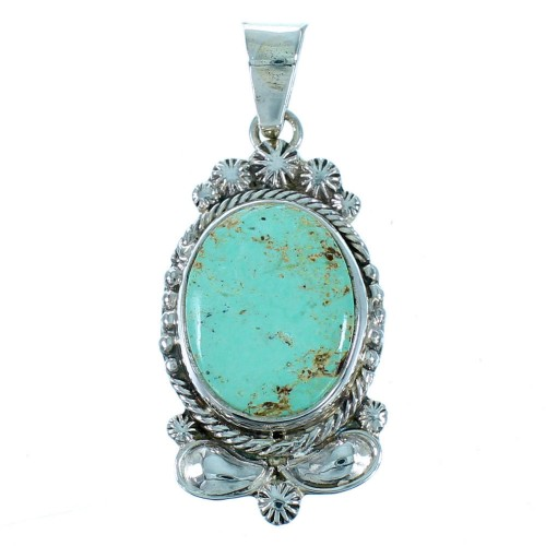 Southwestern Jewelry Sterling Silver And Turquoise Pendant PX30369