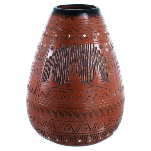 Navajo Indian Hand Crafted Pottery By Shyla Watchman SX111133