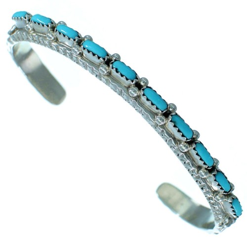 Turquoise Zuni Indian Sterling Silver Cuff Bracelet SX111958