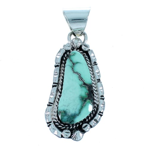 Sterling Silver Navajo Turquoise Pendant RX112104