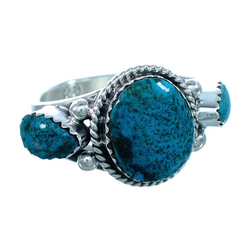 American Indian Turquoise Sterling Silver Ring Size 9 RX112589