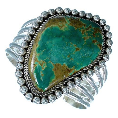 Turquoise And Sterling Silver Navajo Cuff Bracelet SX113663