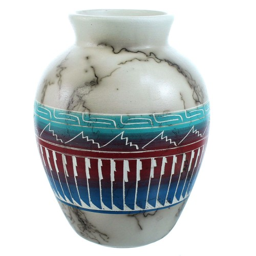 Navajo Horse Hair Pot Hand Crafted By Artist Larry Livingston SX115376