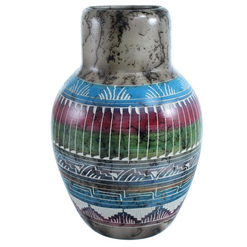 Horse Hair Hand Crafted Navajo Pot By Artist Whitegoat SX115442