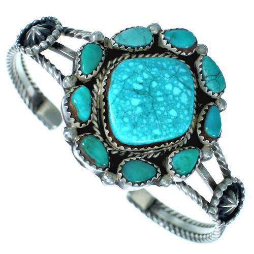 Turquoise Sterling Silver Native American Cuff Bracelet ZX116047