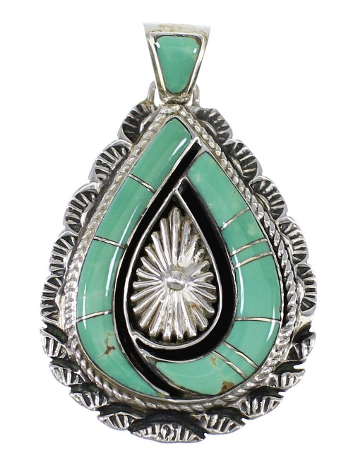 Turquoise Southwest Genuine Sterling Silver Pendant NX94392