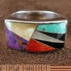 Multicolor And Genuine Sterling Silver Ring Size 7-1/2 AS41312