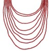 Coral And Sterling Silver Navajo 8-Strand Bead Necklace WX60006