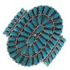 Turquoise Silver Native American Jewelry Cuff Bracelet AX99268