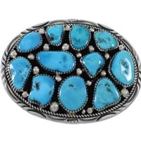 Native American Turquoise Belt Buckles