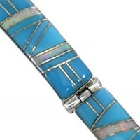 Turquoise and Opal Link Bracelets