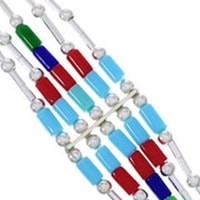 Multicolor Liquid Silver Bracelets