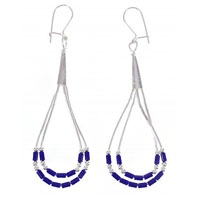Lapis Liquid Silver Earrings