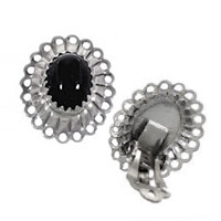 Onyx Clip On Earrings