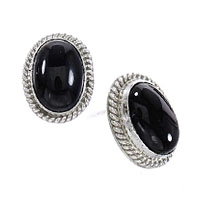 Onyx Post Earrings