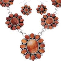 Orange Oyster Shell Necklace
