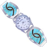 Sterling Silver Turquoise Watches